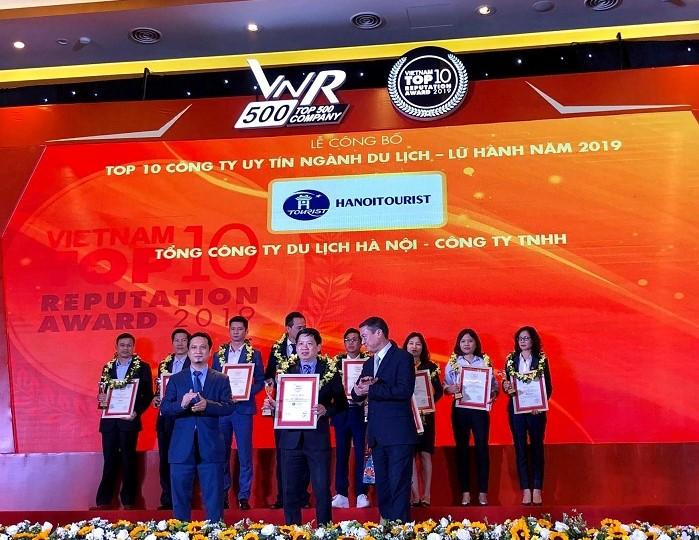 Hanoitourist đạt giải top 10 doanh nghiệp Du lịch