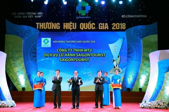 Sài Gòn Tourist được tôn vinh thương hiệu quốc gia