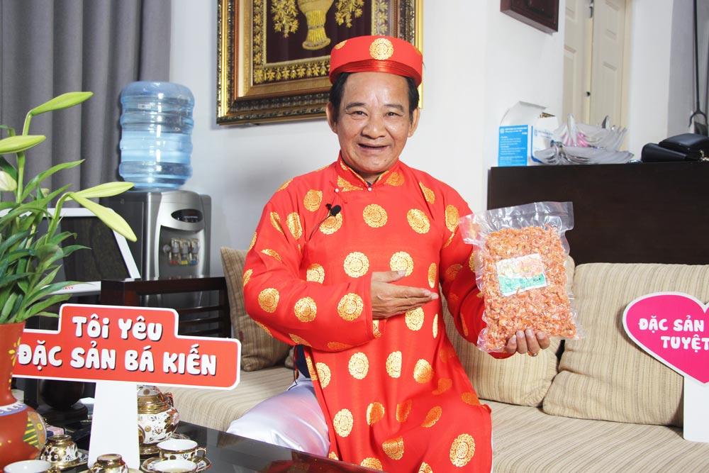 Tôm khô được bán tại cửa hàng đặc sản Bá Kiến uy tín và chất lượng