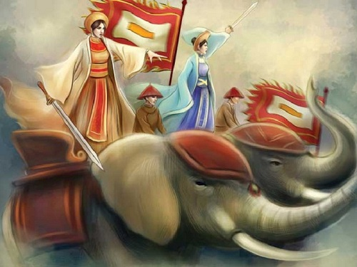 Hai Bà Trưng - vị nữ vương đầu tiên trong lịch sử mở đầu cho những cuộc khởi nghĩa chống phương Bắc xâm lược sau này