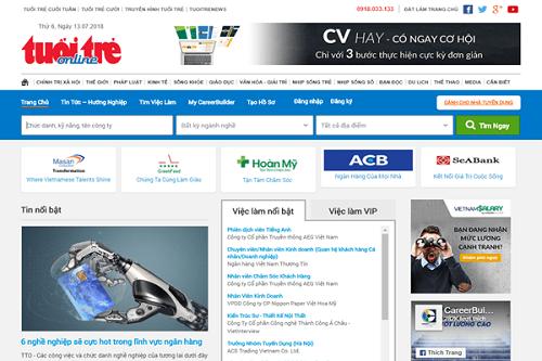 vieclam.tuoitre.vn đã giới thiệu đến các bạn sinh viên nhiều loại ngành nghề thuộc các lĩnh vực khác nhau