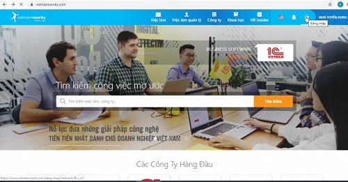 vietnamworks.com đã đăng tải nhiều công việc từ thực tập đến quản lí cấp cao cho sinh viên lựa chọn